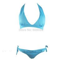 2015 New Brands Push Up Swimsuit Women Halter Bikini Padded Biquini Beach Wear Swimming Clothing 1171