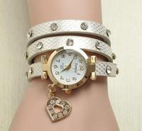 Newest Fashion Ladies Sweet Heart 6 Colors Crystal Diamond Rhinestone Watches Women Casual Dress Quartz Wristwatch Dropshipping