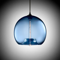 Blue Classic Edison Niche Stamen Glass pendant / Suspension lamp lighting