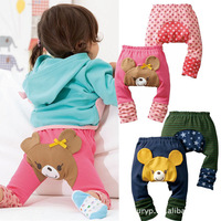 3pcs/lot Busha PP Pant Special Baby Kids PP Pants Long Autumn Cartoon Bear Legging Baby Boys Girls Clothes Gift Free Shipping