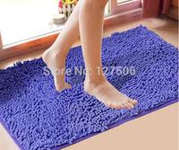 Free shipping 21colors rug mini Mats for doormat carpet bath mat 40*60cm Microfiber Chenille  non-slip mat in the bathroom room