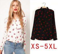 Fashion 2015 Plus size blusas femininas casual shirt women  blouses women work wear clothing blusa XS S M L XL XXL XXXL 4XL 5XL