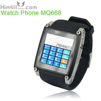 "Semi-smart Watch Cell Phone MQ668 1.54"" TFT Touch Screen FM Radio USB Connect 8GB TF Card Slot Bluetooth GSM SIM 450mAh Battery"