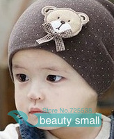 Free Shipping Sale 10 Colors Autumn Winter Warm Cartoon Baby Beanie 2013 New Lovely Bear Children Cap For Boy Girl Infant Hats