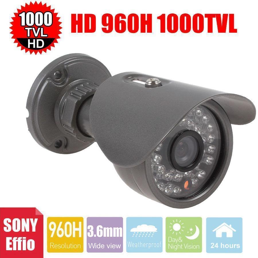 Vanxse CCTV Sony Effio-E CCD 960H/1000TVL Security Camera 30IR CCTV bullet HD camera 3.6mm outdoor Surveillance Camera(China (Mainland))