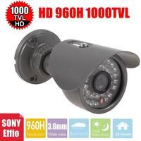 Vanxse CCTV Sony Effio-E CCD 960H/1000TVL Security Camera 30IR CCTV bullet HD camera 3.6mm outdoor Surveillance Camera