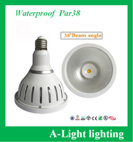 [ A-Light ]-300 free shipping waterproof led bulb COB par38 18W cool white 38 degree angle non-dimmable white 3 years Warranty