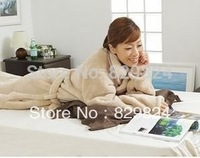 huopa, HOT! Thickening coral fleece blanket sofa blanket lounged blanket robe