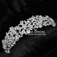 Free Shipping Rhinestone And Crystal Bridal Headband  Bride Hair Accessory Party Prom Jewelry wholesale 1027