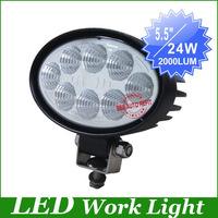 "freeship 24W 5.5"" LED Work Light Fog driving Lamp Truck Tractor Mining Off Road Flood beam worklight led  led offroad led light"
