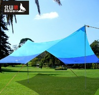 Tentorial Beach tent Gazebo Outdoor Shade-shed  Canopy Ultralarge(420cm*350cm)