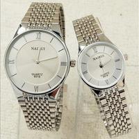 2014 New Arrival Fashion Men Watches Brand Quartz Wristwatches Women Casual Watch Couple Watches (Silveren SA118)