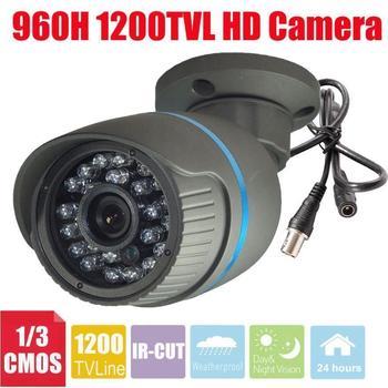 Vanxse CCTV 24IR LED CMOS 1200TVL HD Security Camera 960H IR-CUT Bullet outdoor waterproof Surveillance Camera+wall Bracket