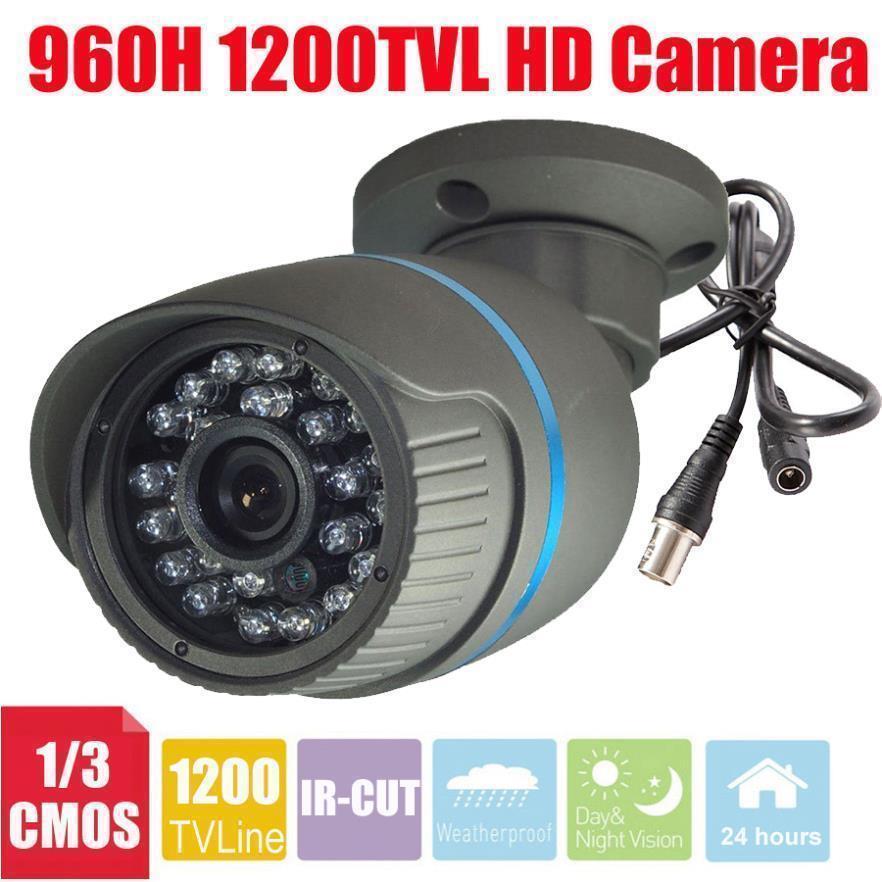 Vanxse CCTV 24IR LED CMOS 1200TVL HD Security Camera 960H IR-CUT Bullet outdoor waterproof Surveillance Camera+wall Bracket(China (Mainland))