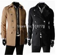 Mens Wool Jackets And Coats Woolen Winter Long Wool Coat Men double breasted Material Militari Casacos Moletom Masculino 2014