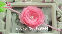 "Free Shipping! Baby girls Hair accessories Posh Headbands 3"" 10 Layers Petals flowers with pearl Rhinestone 40PCS/LOT Headband"