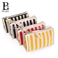 BG women's stripe travel  cosmetic bag toielt bags makeup women beauty bag