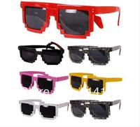 Retro Trendy Cool Pixel Unisex Glasses Pixelated Style Square Sunglasses
