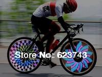 Freeship 2PCS Colorful Rainbow Wheel Signal Lights LED bike wheel light 32 LED 32-pattern include BATTERIES,LED Bike Spoke light