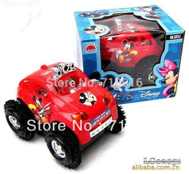 [H&H]Classic Toys Child MICKEY skip stunt car baby educational toy car electric dump truck electric toy Diecasts & Toy vehicles(China (Mainland))