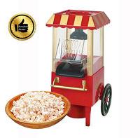 Free Shipping Hot selling Domestic Nostalgia Electric Mini Carriage Shape Hot Air Popcorn Maker Popcorn Machine with EU Plug Red