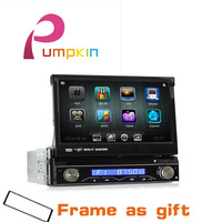 1 Din Car DVD Player,Audio Radio Stereo, Carpc WIth GPS Ipod Navitel Bluetooth FM /AM/USB With remote control+Free Camera