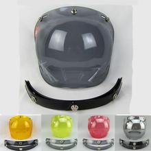 Free shipping 3-snap open face helmet visor vintage motorcycle helmet bubble shield visor lens glasses retro VISOR TINTED SHIELD(China (Mainland))
