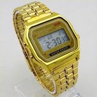 montre F-91W LED Watch silver(gold) steel belt cassio watch men & women A159 vintage sports wristwatch relogio digital masculino