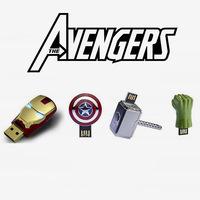 Mix 4 super hero Avengers USB Flash Drives thumb pen drives memory stick u disk 2GB 4GB 8GB 16GB 32GB Free shipping (4pcs/lot)