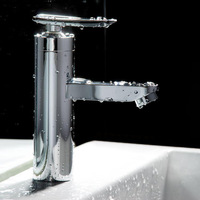 Brass Chrome Bathroom Single Handle Cold and Hot Water Tap Basin Faucet Kitchen Sink Mixer Taps - Wholesale