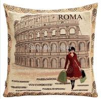 New Fashion High Quality Decorative Vintage Jacquard Cushion Covers Casual Women Series Throw Pillow Case Home Textile Decor