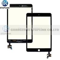 100% Guarantee Test Complete For Ipad Mini Touch Digitizer Screen + IC Flex Chip + Home Button Flex Black & White
