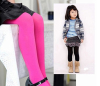 6pcs/Lot Pure Color Candy Velvet Children's tights Girls dancing Leggings Kids Leggings for 1-12ages Free Shipping