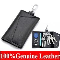 New Arrival Genuine Leather Men Car Key Holder Women Coin Purse Card Holder Keys Hanging promotion gifts  Y002
