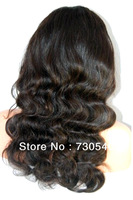 Unprocessed Body wavy virign  Brazilian human hair silk top FULL LACE wig  wholesale price available Fast delievery with in2days