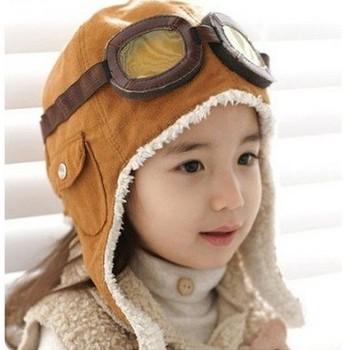 Baby cap Pilot hat kids' air force cap Popular boy winter cap Hot Children's Ear muff cap 1pcs/lot
