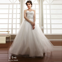 Elegant Embroidery Ball Gown Wedding Dress special modest girl dress supernova sale weddings & events 2014 NW1406