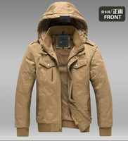 Men's Clothing 2013 autumn and winter fashion male casual wear winter plus size men's clothing with a hood jacket outerwear