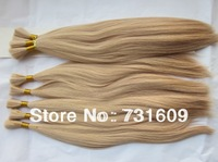 100g/pc unprocessed 100% human hair bulk blonde wholesale factory price 5a top grade hair extension tangle free