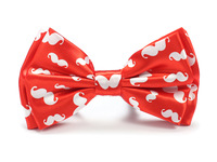 "Free shipping- New arrival Shiny Material Bow tie for Men Men's Unisex ""Red Mustache"" Tuxedo Dress Bowtie Brand New"