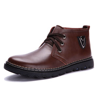 2013 new Thick winter shoes men genuine leather shoes rubber sole flats shoes man size 38-44 shoes