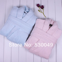 Free Shipping Bamboo Fibre Lovers Design Bathrobe, 100% Bamboo Fiber, Blue For Gentleman L.XL.XXL, Pink For Ladies L.XL