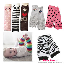 Free Shipping 1pc Baby Boy Girls Infant Toddler Kids Rainbow Zebra Leggings Socks Leg Warmers Football Casual Autumn Wear(China (Mainland))