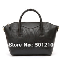 Free shipping, Women's 100% Genuine  Leather Handbag Fashion classic crocodile pattern, Tote/ Messenger Bag, OL Bag