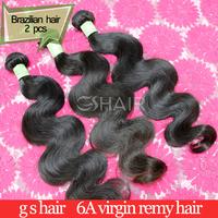 6A Brazilian virgin hair weave body wave human hair extension 2pcs lot mix lengths natural color new star virgin brazilian hair