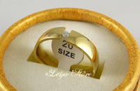 18Pcs High Quality Fashion Zircon Golden Comfortable Stainless Steel Rings