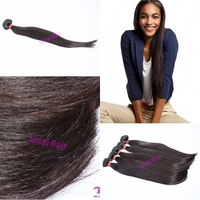 "Grade 6A unprocessed straight virgin peruvian hair weft with natural color 4pcs/lot, 12""-34"", 95g-100g, free shipping"