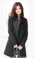 Hot Selling Wholesale Winter Women Woolen Trench Jacket, Cute Slim Trench Jacket with 2 Colors  1001