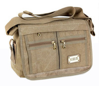 cotton canvas messenger schoolbags for boys 4610 Free shipping