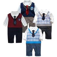 Baby Clothing Baby Boy Clothes Newborn Baby Clothing roupas meninos Toddler Boy's Romper Gentlemen Jumpsuit Baby Rompers